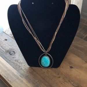 Rope and Turquoise Necklace